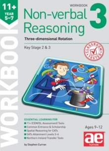 Image for 11+ Non-verbal Reasoning Year 5-7 Workbook 3 : Three-dimensional Rotation
