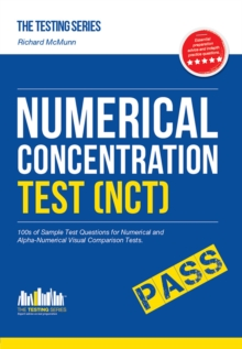 Image for Numerical concentration test (NCT)  : sample test questions for train drivers and recruitment processes to help improve concentration and working under pressure