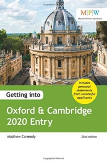 Getting into Oxford & Cambridge - Carmody, Mat