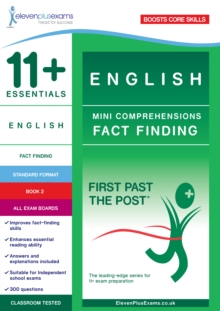 Image for 11+ Essentials English: Mini-Comprehensions Fact-Finding Book 1