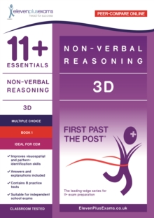 Image for 11+ Essentials - 3-D Non-verbal Reasoning Book 1 (First Past the Post) - CEM (Durham University)
