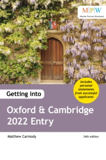 Getting into Oxford and Cambridge 2022 entry - Carmody, Mat