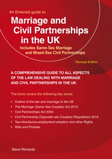 Image for Marriage and civil partnerships in the UK  : includes same-sex marriage and mixed-sex civil partnerships