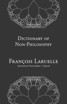 Image for Dictionary of non-philosophy