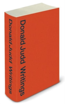 Image for Donald Judd writings