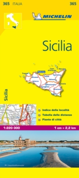 Image for Sicily - Michelin Local Map 365 : Map