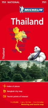 Image for Thailand - Michelin National Map 751 : Map