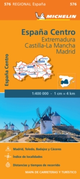 Image for Extremadura, Castilla La Mancha, Madrid - Michelin Regional Map 576 : Map
