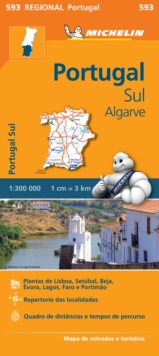 Image for Portugal Sud - Algrave - Michelin Regional Map 593 : Map
