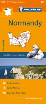 Image for Normandy - Michelin Regional Map 513 : Map