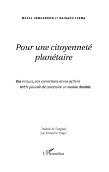 Image for Pour une citoyennete planetaire.