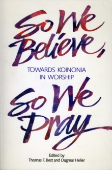 Image for So We Believe, So We Pray
