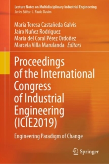 Image for Proceedings of the International Congress of Industrial Engineering (ICIE2019) : Engineering Paradigm of Change
