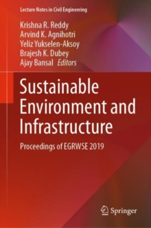 Image for Sustainable Environment and Infrastructure : Proceedings of EGRWSE 2019