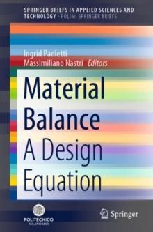 Image for Material Balance : A Design Equation