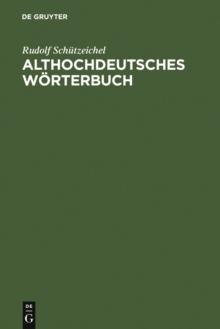 Image for Althochdeutsches Worterbuch