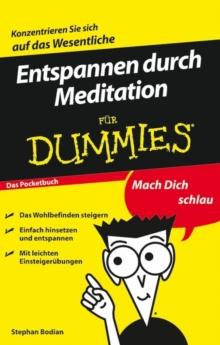 Image for Entspannen durch Meditation fur Dummies Das Pocketbuch