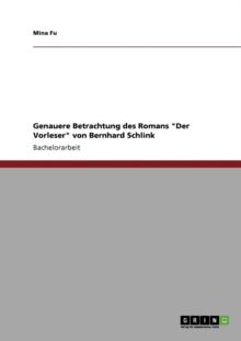 """Image for Genauere Betrachtung des Romans """"Der Vorleser"""" von Bernhard Schlink"""