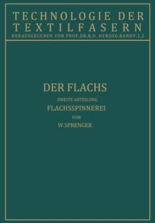 Image for Der Flachs : Flachsspinnerei Zweite Abteilung
