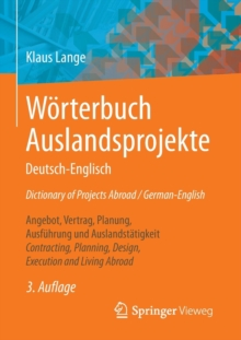 W rterbuch Auslandsprojekte Deutsch-Englisch Dictionary of Projects Abroad / German-English