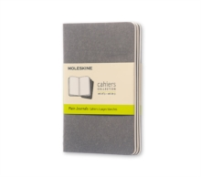 Image for Moleskine Pebble Grey Plain Cahier Pocket Journal (3 Set)