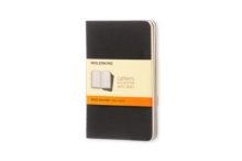 Image for Moleskine Ruled Cahier - Black Cover (3 Set)