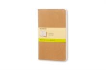 Image for Moleskine Plain Cahier L - Kraft Cover (3 Set)