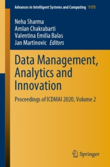 Image for Data Management, Analytics and Innovation : Proceedings of ICDMAI 2020, Volume 2