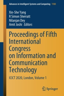 Image for Proceedings of Fifth International Congress on Information and Communication Technology : ICICT 2020, London, Volume 1